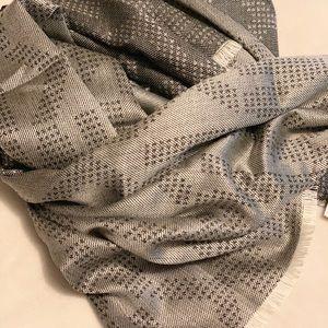 Brand New black and grey monogram scarf